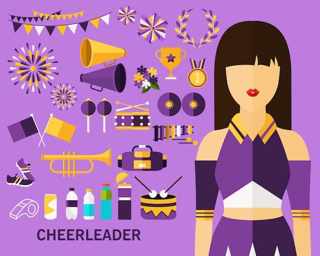 Cheerleader-konzept-hintergrund
