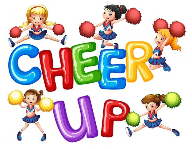 Cheerleader und wortbeifall