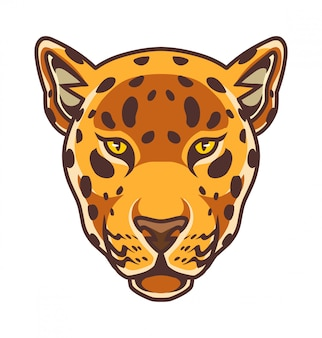 Cheetah kopf maskottchen logo