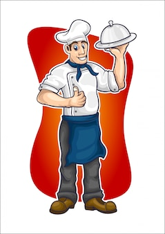 Chef-cartoon-vektor-illustration