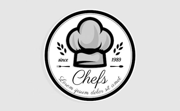 Chef hut logo vorlage. restaurant logo design inspiration. bäckerei-logo