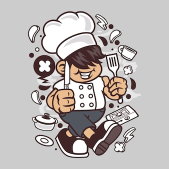 Chef kid cartoon