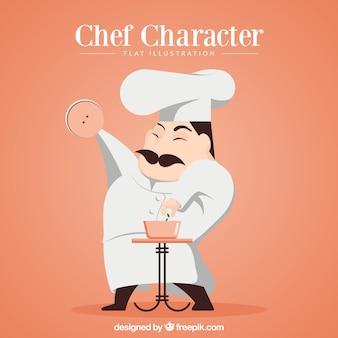 Chef kochen hintergrund