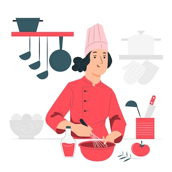 Chef konzeptillustration