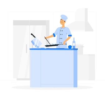 Chef konzeptillustration