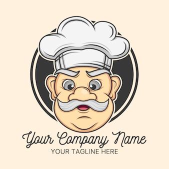 Chef-logo-vorlage design