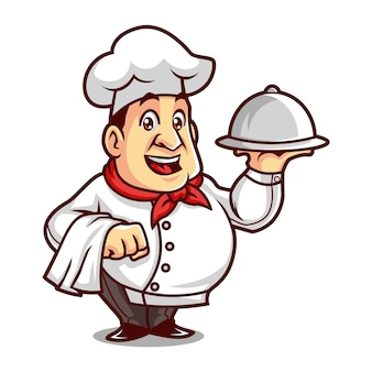 Chef-maskottchen-design
