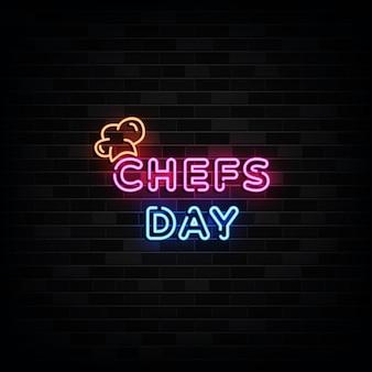 Chefs day leuchtreklamen