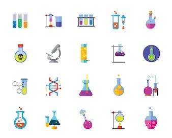 Chemie-Icon-Set