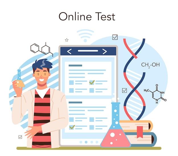 Chemiestudium online-dienst oder plattform. chemieunterricht