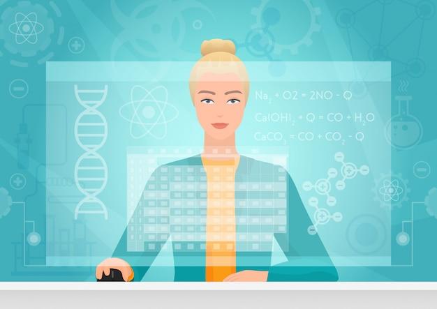 Chemiker-genetik unter verwendung der schnittstelle für den virtuellen arbeitsbereich