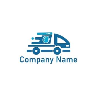 Chemische reinigung und wäscherei-logo-design