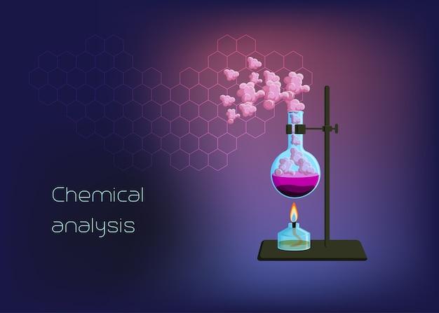 Chemische wissenschaftliche hintergrundvorlage