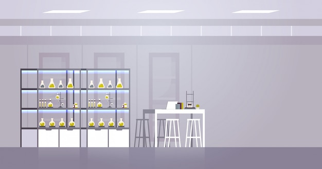 Chemisches forschungslabor mit unterschiedlicher ausstattung