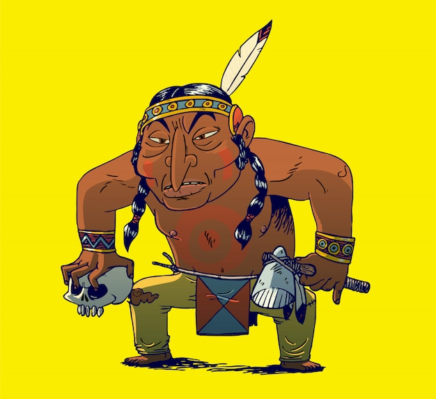 Cherokee indianischer krieger
