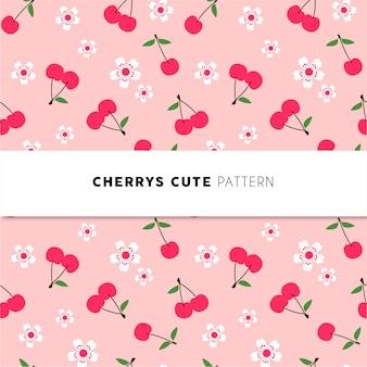 Cherrys süßes muster