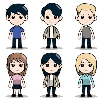 Chibi charakter design avatar