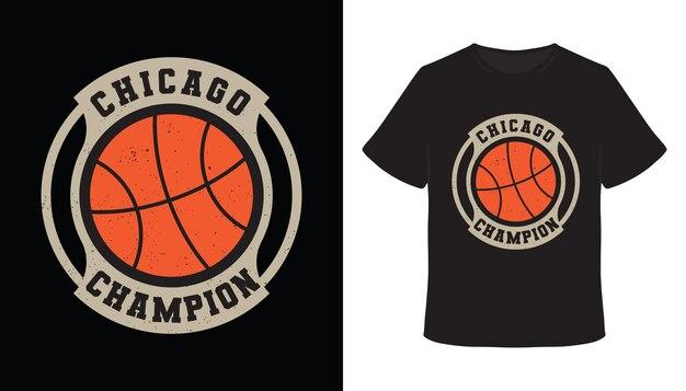 Chicago champion typografie basketball-t-shirt-design