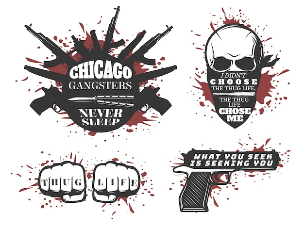 Chicago gangster quotes set