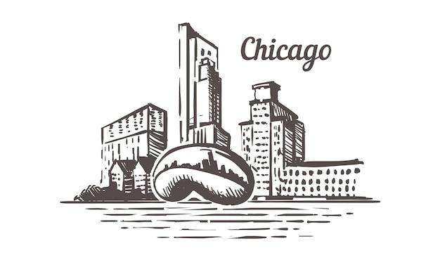 Chicago skizze skyline