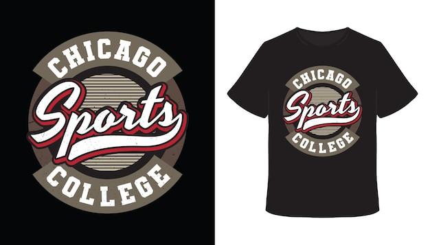 Chicago sport-typografie-t-shirt-design
