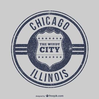 Chicago stempel vektor