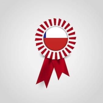 Chile flag ribbon banner abzeichen