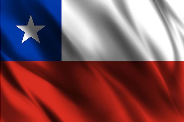 Chile flagge winken abstrakten hintergrund
