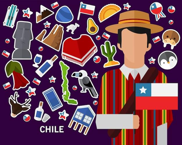 Chile-konzept hintergrund