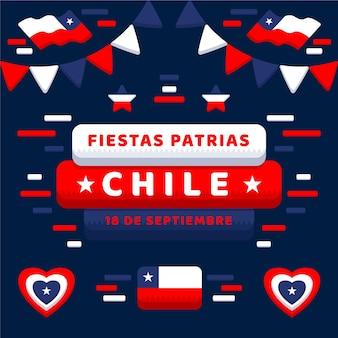 Chile nationalfeiertag konzept