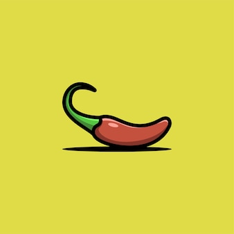 Chili illustration logo.
