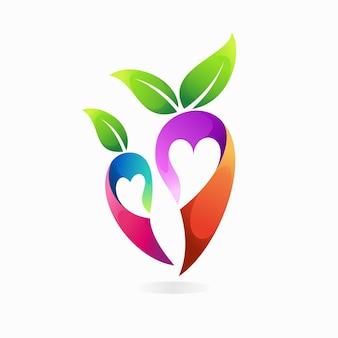 Chili-logo mit liebeskonzept