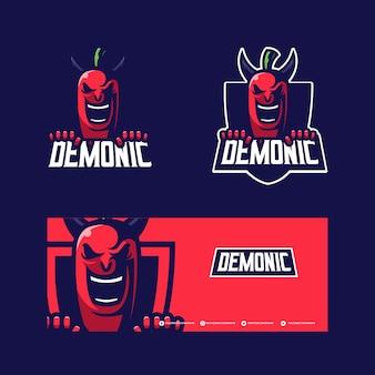 Chili maskottchen logo design