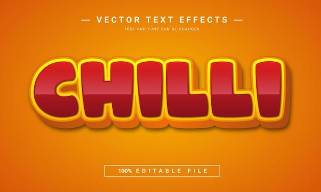 Chili-text 3d bearbeitbarer texteffekt