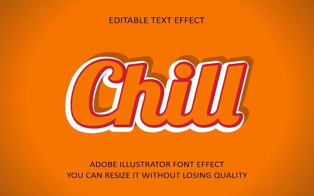Chill bearbeitbaren text effekt