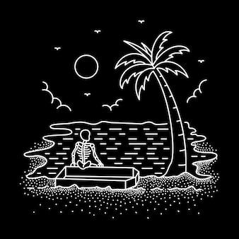 Chill out oder die monoline illustration