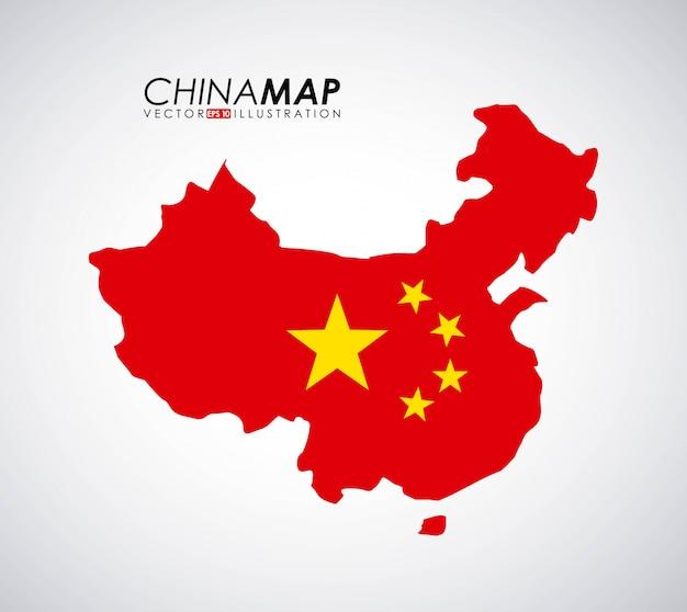 China-design über grauer hintergrundvektorillustration