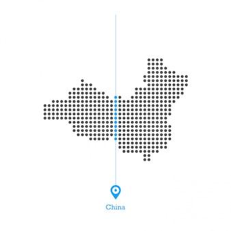 China doled kartenentwurfsvektor