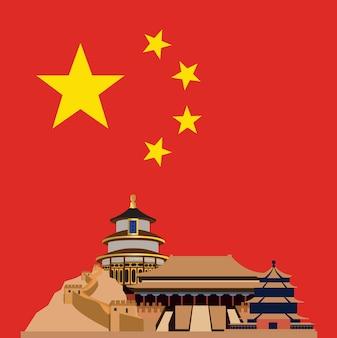 China hintergrund-design