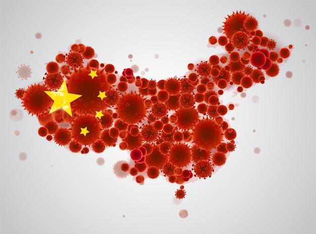China karte. coronavirus