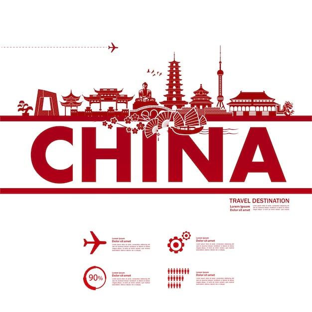 China reiseziel, illustration