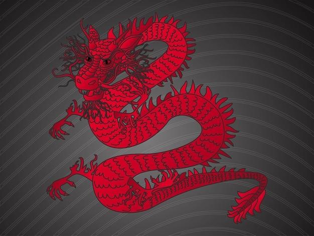 Chinese wütend roter drache vektor