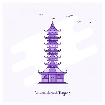 Chinesische alte pagoda-wahrzeichen