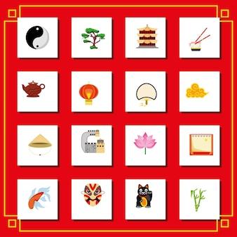 Chinesische bonsai pagode kalenderlaterne