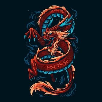 Chinesische drachenillustration