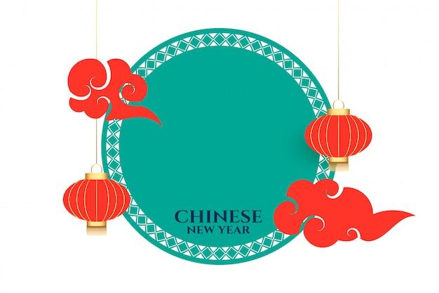 Chinesische festivalfahne des neuen jahres