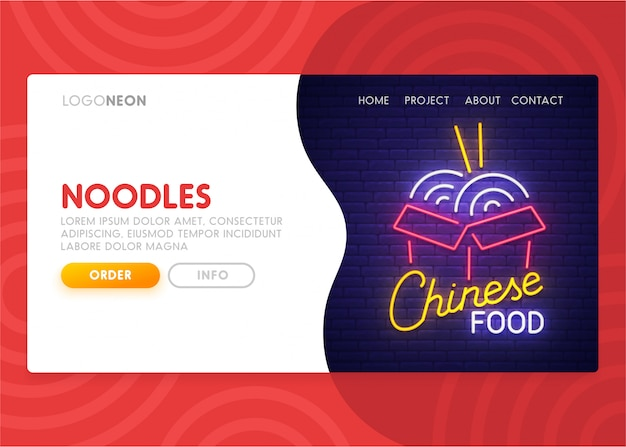 Chinesische food landing page