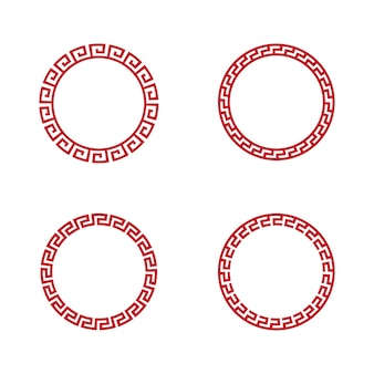 Chinesische grenze vektor-illustration design-vorlage