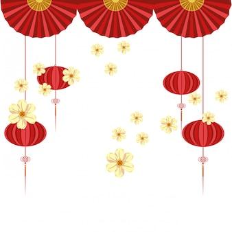 Chinesische hängende laterne