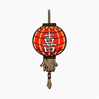 Chinesische laterne vektor-illustration clipart